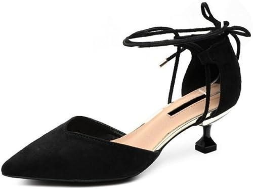 DALL DALL Escarpins Ly-577 élégant Et Confortable Printemps Et été Chaussures Pour Femmes Bouche Peu Profonde Tête Pointue Talons Hauts Sandales Haut 6cm (Couleur   Noir, taille   EU 39 UK6 CN 39)  bénéfice nul