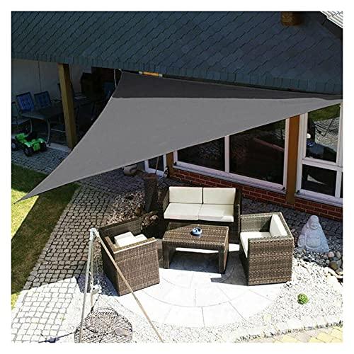 AMSXNOO Vela De Sombra, Impermeable 98% De Protección UV a Prueba De Viento Vela Toldo, Triangular Toldos Exterior por Invernadero Patio Interior Balcón Kiosko Cámping (Color : Gray, Size : 3X4X5)