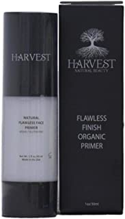 Harvest Natural Beauty - Flawless Finish Organic Primer - 100% Natural and Certified Organic Face Primer - Non-Toxic, Vegan and Gluten-Free