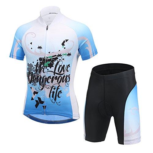 LSHEL Maillot de Ciclismo y Pantalones Cortos para Niños
