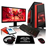 Ensemble Gaming PC AWD-IT - Processeur 4 cœurs AMD A10 9700 • Écran LED 24'• Clavier et Souris Gamer • 16 Go • 1 to • Étui PC à LED • WiFi • Windows 10