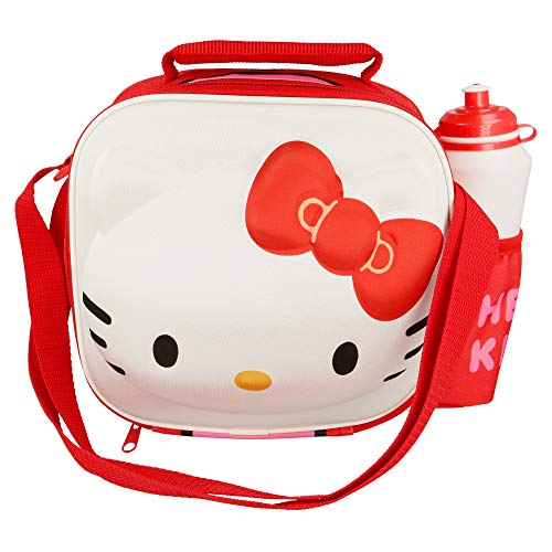 STOR Character 3D Insulated Bag with Strap + Sport Bottle Set Hello Kitty Sacs thermiques unisexe