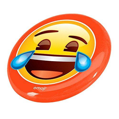Emoji Sonriente Cara Disco Volador, Color Naranja