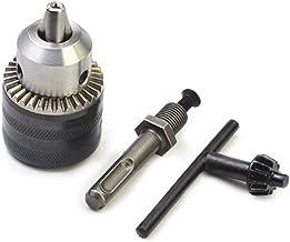 Portabrocas de 1,5 a 13 mm, con adaptador SDS 1/2 extraíble para taladro manual eléctrico, taladro percutor