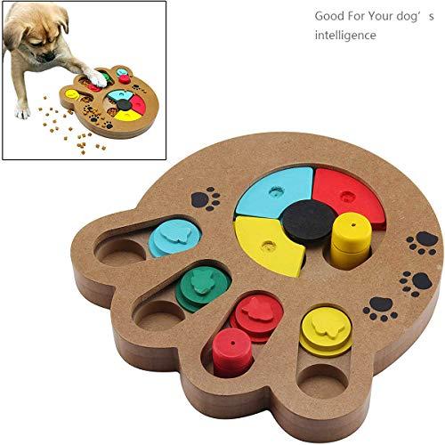 JEANGO Dog Puzzle Feeder Holzspielzeug Interaktives Haustier Hundespielzeug Futterspender Training Verbessern Sie den IQ für kleine große Hunde