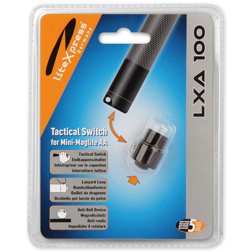 LiteXpress LXA100 - Interruptor de extremo para bombillas Mini Maglite AA, incluye modelos LED