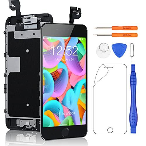 Yodoit Para iPhone 6s LCD Pantalla y Montaje Digitalizador Pantalla Táctil de Cristal Reemplazo con Marco + Kit de Herramientas de Reparación (4.7 pulgadas de Negro)