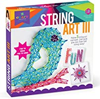 Craft-tastic DIY String Art – Craft Kit for Kids – Everything Included For 3 Fun Arts & Crafts Projects – Bird Series