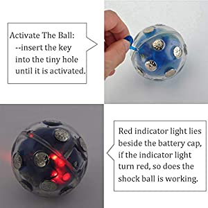 ThinkTop Shock Ball Hot Potato Game, Electric Shocking Game for Christmas, Adventure Funny Novelty Gift Fun Joking for Party