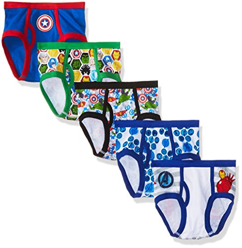 Marvel Big Boys Avengers 5 Pack Underwear, Assorted, 4