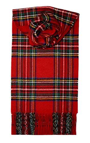 Lochcarron Royal Stewart Tartan Schottenmuster Lammwollschal