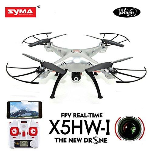 WayIn Syma X5HW 2.4G 4CH 6-Asse Giroscopio RC Wifi FPV Quadricottero Drone con Fotocamera RTF (Versione aggiornata di X5SW)