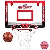 MHCYKJ Canasta Baloncesto Interior Infantil De Puerta Juego Montado En La Pared para Niños Basquetbol con Bola Y Bombade Pelotas Puertas Casa Oficina