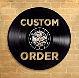 Pmhhc Custom Vinyl Record Wall Clock Custom Order Your Design Your Logo Your Personal Personalized Vinyl Wall Clock Watches