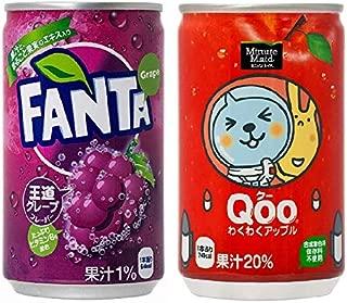 【セット買い】コカ・コーラ ファンタ グレープ 160ml缶×30本 + コカ・コーラ ミニッツメイド Qoo クー わくわくアップル 160ml缶×30本