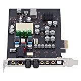 Tarjeta de Sonido Eujgoov Audio/Auriculares Interruptor de una Tecla PCI-E 7.1-Canal Envolvente para...