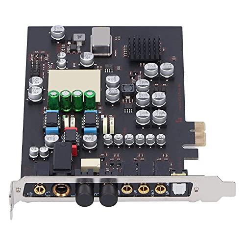 Eujgoov Soundkarte Audio/Kopfhörer Eintastenschalter PCI-E 7.1-Surround Kanal für das integrierte integrierte HiFi-Modul für den Desktop