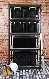 Really Useful Kunststoff-Aufbewahrungsbox recycelt robust stapelbar 35 Liter 390 x 480 x 310 mm schwarz - 4