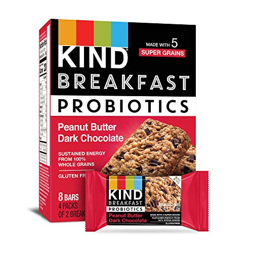 KIND Breakfast Probiotic Bars, Peanut Butter Dark Chocolate, 32 Count