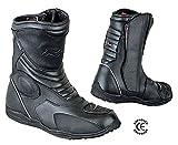BIESSE - Stivaletti Moto Enduro Touring, in vera pelle, misure dal 39 al 47, impermeabili, colore Nero, Certificati CE (nero, 41)