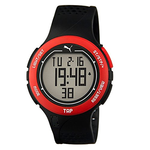 Puma Time Herren-Armbanduhr PU-Touch-black red Digital Quarz Kautschuk PU911211001