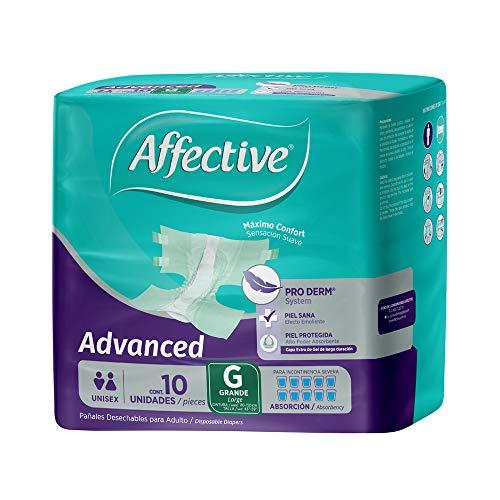 Affective Advanced Pañales para Adulto, Unisex, Talla Grande, 80 Piezas