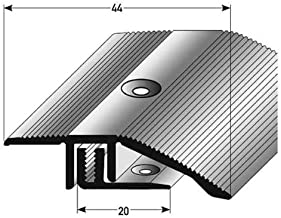 AUER Lot de 2 profil/és pour nez de marche en aluminium anodis/é avec per/çages Bronze clair 1/m x 20 mm x 20 mm