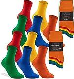 world wide sox 10 Paar bunte Premium Socken aus Baumwolle, 35-38, 10 Paar - Farbig