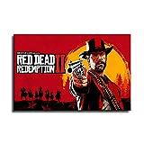 Póster de Red Dead Redemption 2 para juegos y arte de pared, diseño moderno de familia, Sin marco, 12x16inch