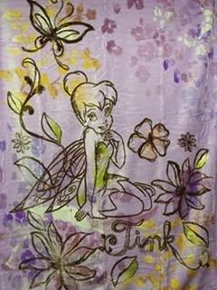 Northwest Tinkerbell Autumn Blossom Disney Cartoon Plush 60X80 Blanket/Throw Soft and Warm