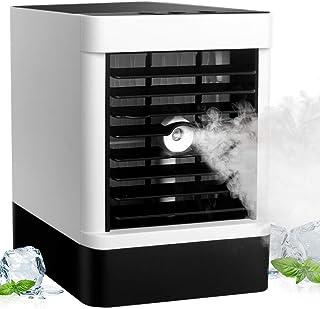 StillCool Aire Acondicionado Portátil, 3 en 1 Ventilador Aire Acondicionado, Humidificador y Purificador, Ventilador USB, 3 Velocidade, 90 ° oscilación, para Hogar Oficina
