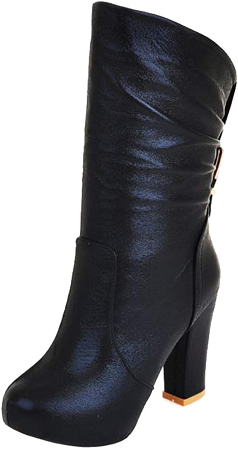 Onewus Women Sexy Mid Calf Boots