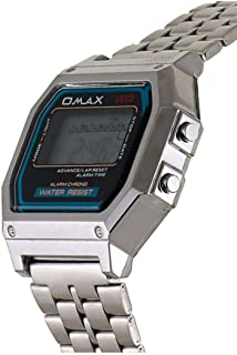 Omax Dress Watch For Unisex Digital Metal - LCD-M283