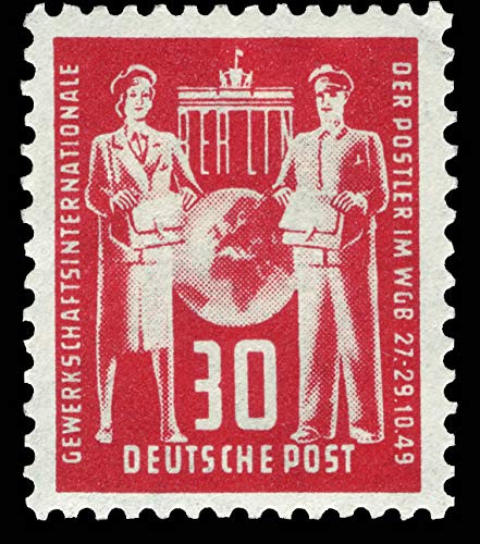 philaseum Briefmarken DDR 1949, Mi. Nr. 244, Postgewerkschaft, Postfrisch (Mi 14,00 EUR)