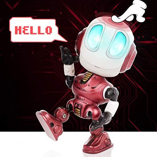 Peradix robot knuffelige interactief, intelligent robot educatief speelgoed voor peuters kinderen, elektronisch speelgoed verjaardagscadeautjes voor 3-12 jaar Rood