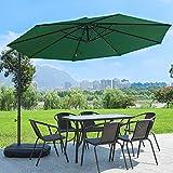 TFACR Aluminium Parasol - 3 M X2.5M Tilting Cantilever Hanging Sun Umbrella