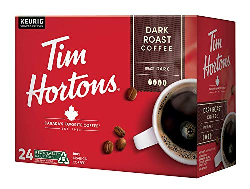 Tim Horton's Dark Roast Coffee K-Cups, Compatible with Keurig K-Cup Coffee Makers, 24-Count