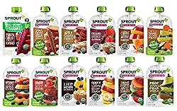 cheap Sprout Baby Food Pack Level 2, 12 Flavor Samples, 3.5 oz Packets (12 Packs)