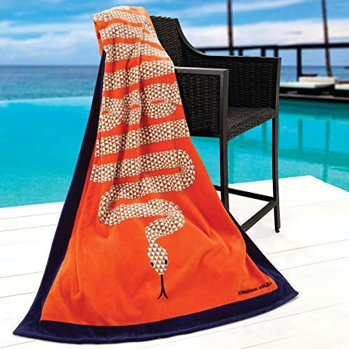 Avanti Linens Jonathan Adler Snake Beach Towel, Orange