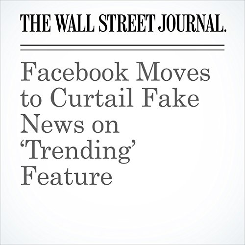 Facebook Moves to Curtail Fake News on 'Trending' Feature copertina