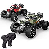 X TOYZ RC Cars Remote Control Cars 2 Pack Off Road Monster Trucks for Kids Boys, 1:20 Scale Metal Shell High Speed Racing Car 2.4Ghz Hobby Vehicles Toys Gifts with 4 Rechargeable Batteries