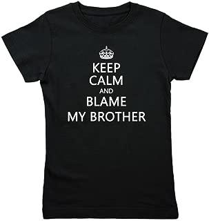 Keep Calm Kids - Girl's Cotton T-Shirt, Cute Slim Fit Girl's Shirt