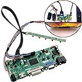 Nologo Tin-YAEN Placa del Controlador LCD 40P 8 bits HD DVI VGA Módulo de Audio for PC Kit de Herramientas for B156XW02 15.6 Pulgadas Displa for Trabajar la Madera Accesorios