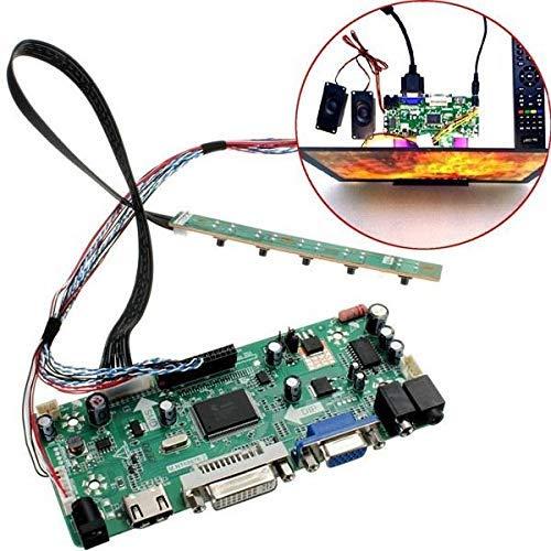 Nologo YO-TOKU LCD Controller Board 40P 8-Bit HD DVI VGA Audio PC Modul Kit für B156XW02 15,6 Zoll Display Spot Steuermodul Module Module CE