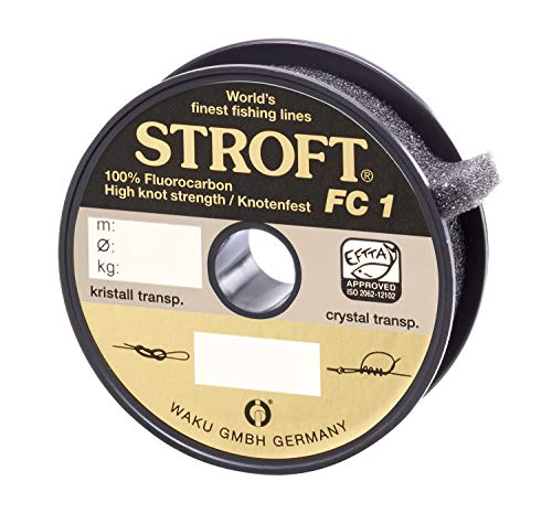 STROFT FC1 - Hilo de pescar de fluorocarbono, 100 m Talla:0,145mm-2,1kg