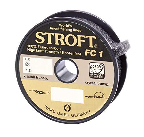 WAKU STROFT FC1 - Hilo de pesca (fluorocarbono, 100 m, 0,100 mm, 1,2 kg)