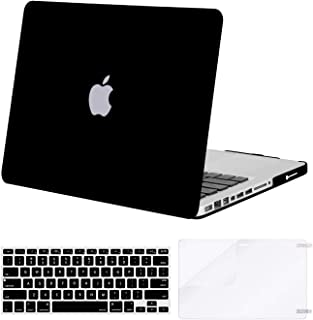 MOSISO Plastic Hard Shell Case & Keyboard Cover & Screen Protector Only Compatible Old MacBook Pro 13 Inch (Black)