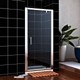 Image of 860mm Pivot Hinge Shower Enclosure 6mm Glass Reversible Cubicle Door