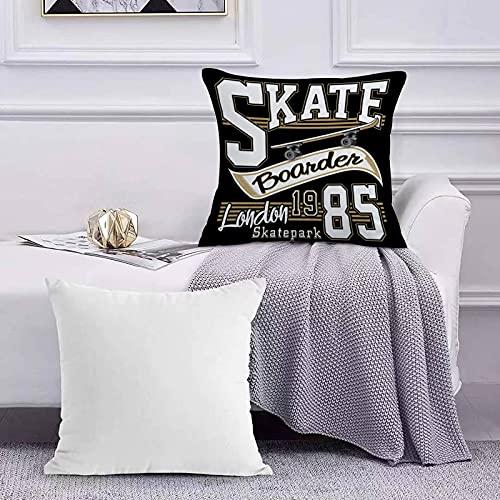 Funda de Cojín Funda de Almohada del Hogar Gráficos de tipografía London Skate Board Sofá Throw Cojín Almohada Caso de la Cubierta para 45x45cm