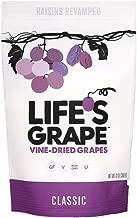 Life's Grape Classic Vine Dried Fruit | Raisins Revamped | No sugar added | California Grown | Vegan, Non-GMO, Gluten Free, Kosher, 120 calories Resealable